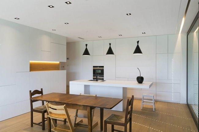 Isolation des sols : vue intérieure de la maison